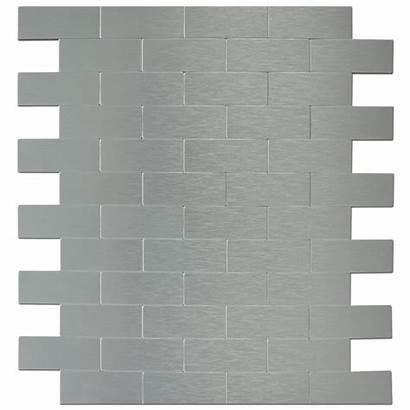 Tiles Stick Peel Sheets Brick Metal Mosaic