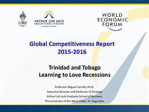 Prof. Miguel Carrillo: WEF Global Competitiveness Report ...