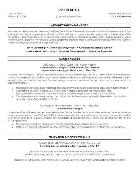 healthcare management resume