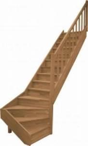 Escalier 1 4 Tournant Gauche : escalier 1 4 tournant bas gauche chene mat riaux de construction escaliers echelles rognac ~ Dode.kayakingforconservation.com Idées de Décoration