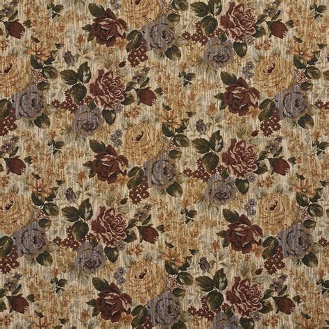 Tapestry Material Upholstery by F922 Green And Blue Floral Bouquet Tapestry Upholstery