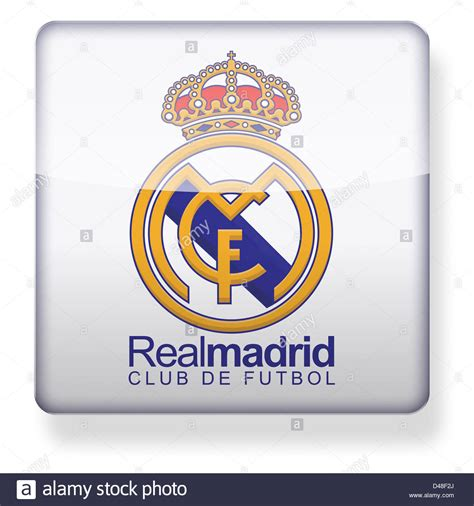 Real Madrid football club logo as an app icon. Clipping ...