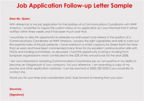 format  follow  letter   job application