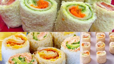 sandwich rollups  pinwheels bread sushi kids video