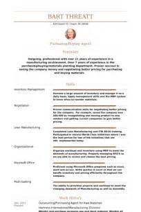 resume profile for purchasing purchasing resume sles visualcv resume sles database