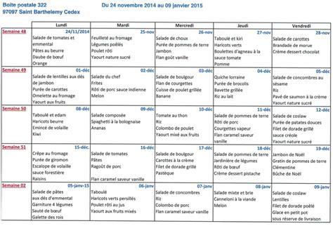 articles de bureau menus cantine du 24 novembre au 13 février 2015 a p e l