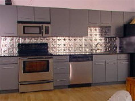 tin backsplash for kitchen how to create a tin tile backsplash hgtv