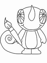Chameleon Coloring Pages Animals Mixed Rango Print Drawing Line Cartoon Clipart Animal Cute Monkey Starfish Popular Lizard Camilian Getdrawings Clip sketch template