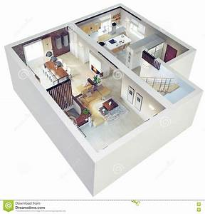 plan view of an apartment stock illustration image 40889215 With plan d appartement 3d 16 appartement terrasse moderne illustration stock image
