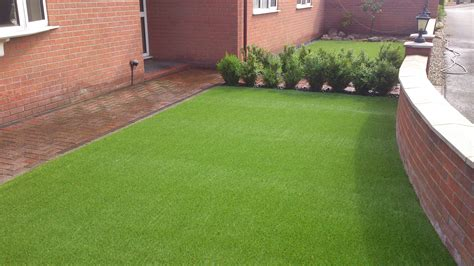 low maintenance garden idea artificial grass