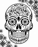 Skull Coloring Sugar Pages Adults Bestcoloringpagesforkids sketch template