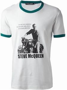lyst dolce gabbana steve mcqueen quote tshirt in white