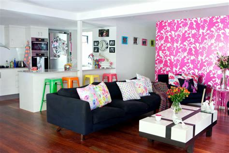 neon colors   living room interior design ideas