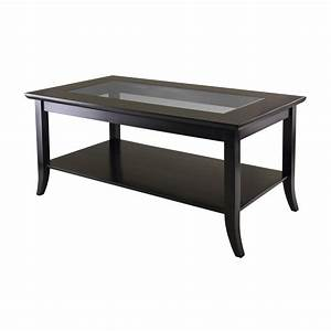 winsome wood 92437 genoa rectangular glass top coffee With room place coffee tables