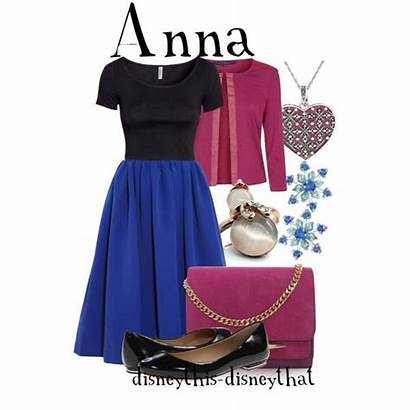 Disney Outfits Inspired Polyvore Anna Frozen Princess
