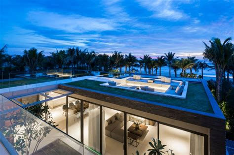 de cuisine arabe villa design avec piscine sur le toit