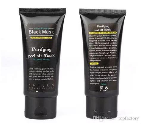 shills black mask blackhead remover deep care cleansing peel  black mud mask ml purifying