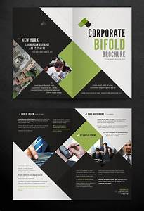 Corporate bi fold brochure template printriverc for Bi fold brochure templates