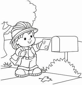 Mail Carrier Coloring Page Coloring Pages