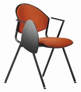 Stuhl Mit Schreibplatte : polsterstuhl f r konferenzraum mit schreibtablett idfdesign ~ Frokenaadalensverden.com Haus und Dekorationen