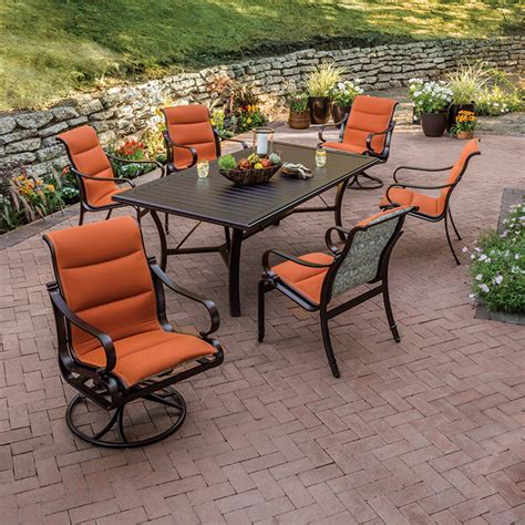 torino padded sling sling patio furniture tropitone