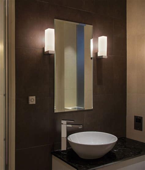 bathroom wall light with opal glass art deco style