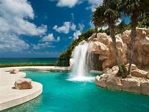 Piscine Avec Cascade : infos sur maison de reve avec piscine et cascade arts ~ Premium-room.com Idées de Décoration