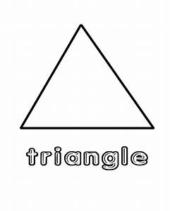 Free coloring pages of tracing and triangle