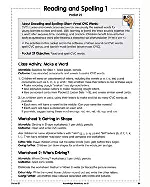 reading and spelling 1 free reading lesson plans on cvc