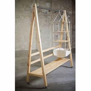 Kleiderständer Aus Holz : kleiderstange aus holz selber bauen hi26 hitoiro ~ Michelbontemps.com Haus und Dekorationen