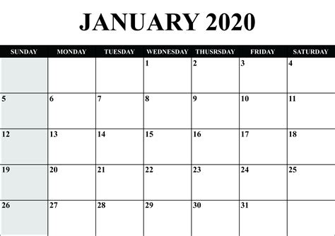 catch january  calendar printable  monthly