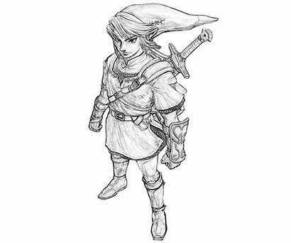 Zelda Coloring Link Pages Legend Character Printable
