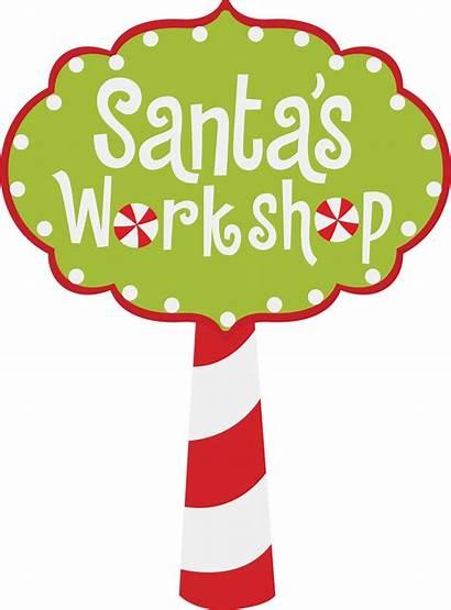 Workshop Santa Sign Printable Clipart Svg Cart