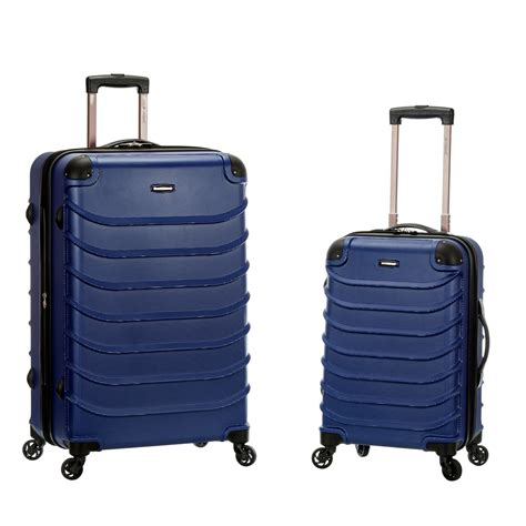 light blue luggage sets rockland light weight 2 piece hardside spinner upright