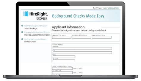 Hireright Background Check Process Employment Background Checks Background Screening Hireright