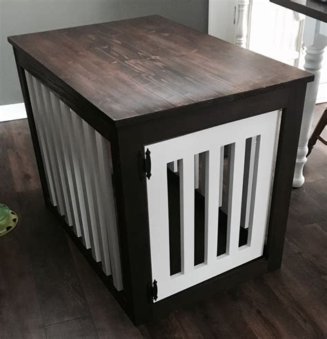 wooden dog crate table ana white wood dog crate end table diy projects
