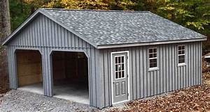 24x24 2 car 2 story garage with 7 pitch roof located in With 24x24 building kit