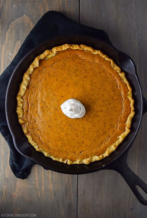 This recipe is made from fresh pumpkin, not canned. Skillet Pumpkin Pie Recipe | Kitchen Swagger