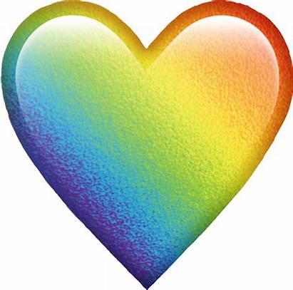 Emoji Heart Rainbow Colors Colorful Picsart Any