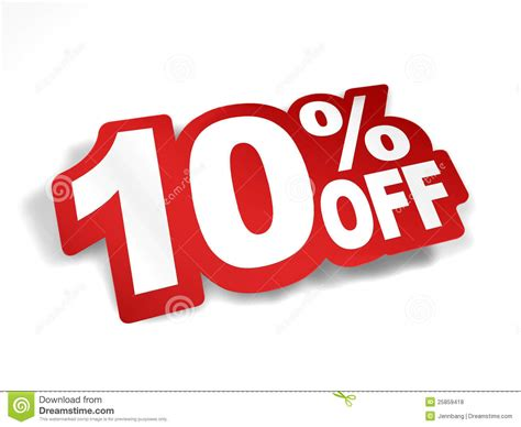 10 percent off discount stock illustration illustration
