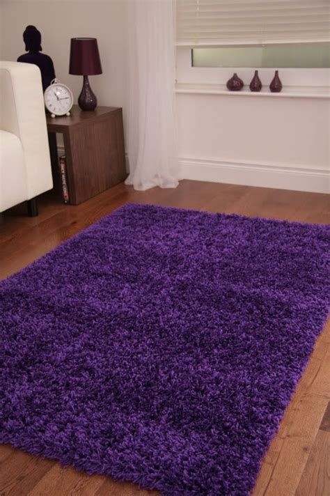 You can easily put a tray on it for drinks and. Shaggy Viscose Rug Solid Purple - Casye Furniture