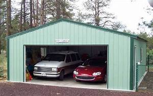 2 car steel garage image With 2 car garage metal building