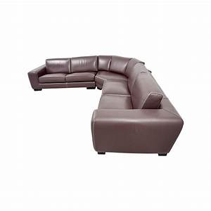 83 off roche bobois roche bobois brown leather for 83 sectional sofa