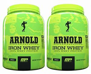 2 X Musclepharm Arnold Iron Whey 680g