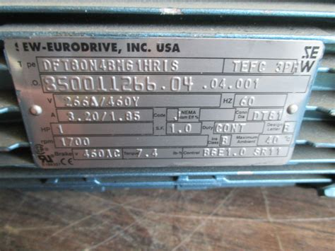sew eurodrive s37d t80n 4bmg 1hr1s speed reducer with motor industrial usa ebay