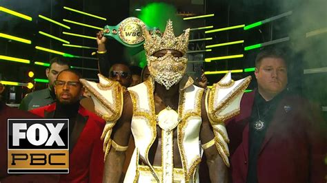 Watch Deontay Wilder's epic entrance before his knockout ...