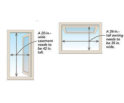 Bedroom Definition Building Code by Awning And Casement Egress Window Graphic Understanding