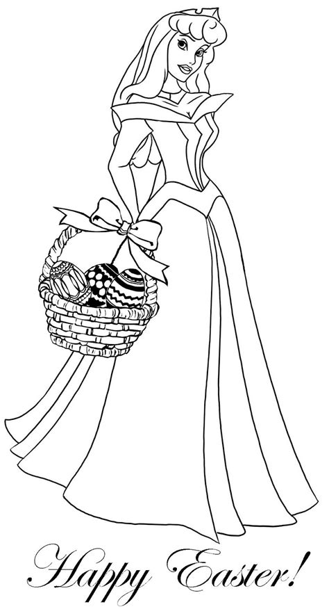 princess coloring pages easter theme coloring page