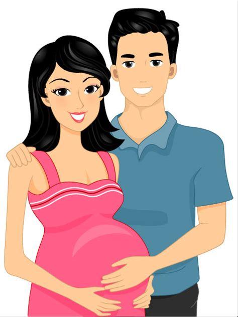 Wanita Hamil 3d Keywords Cartoon Mothers Pregnant Women Couples Love Cartoon Characters Vector Material