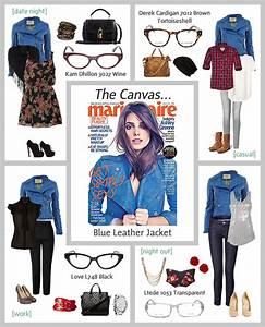 Blue Leather Jacket - theLOOK | Coastal.com - Eyewear + Fashion | theLOOK | Coastal.com ...